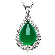 povoljno -Žene Kubični Zirconia Ogrlice s privjeskom Geometrijski Kruška Moda Kamen Obala 45+5 cm Ogrlice Jewelry 1pc Za Dar Dnevno