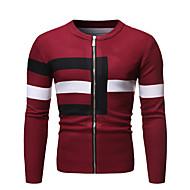 voordelige -Heren Kleurenblok Lange mouw Vest Trui Jumper Zwart / Rood / Grijs US36 / UK36 / EU44 / US38 / UK38 / EU46 / US40 / UK40 / EU48