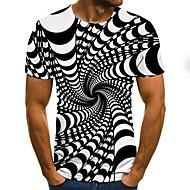 povoljno -Majica s rukavima Muškarci - Ulični šik / pretjeran Dnevno / Izlasci 3D / Grafika / Slovo Drapirano / Print Crn