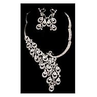 povoljno -Žene Bijela Kubični Zirconia Svadbeni nakit Setovi Geometrijski Ptica Moda Imitacija dijamanta Naušnice Jewelry Obala Za Vjenčanje Party 1set