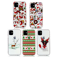 voordelige -hoesje Voor Apple iPhone 11 / iPhone 11 Pro / iPhone 11 Pro Max Stofbestendig / IMD / Ultradun Achterkant Transparant / Cartoon / Kerstmis TPU