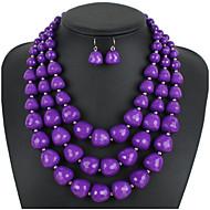 povoljno -Žene Smola Svadbeni nakit Setovi Geometrijski krafne Stilski Naušnice Jewelry Bijela / Lila / Crvena Za Party Festival 1set