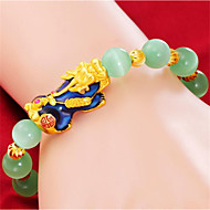voordelige -Heren Dames Kralenarmband meetkundig Dier Stijlvol Hars Armband sieraden AB witte kleur Voor Lahja Dagelijks