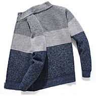 voordelige -Heren Kleurenblok Lange mouw Vest Trui Jumper Lichtgrijs / Rood / Marineblauw US36 / UK36 / EU44 / US38 / UK38 / EU46 / US40 / UK40 / EU48