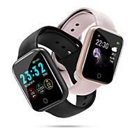 voordelige -Voor Stel Smart horloge Digitaal Stijlvol Silicone Zwart / Zilver / Roze 30 m Hartslagmeter Bluetooth Smart Digitaal Modieus - Zwart Roze Zilver Een jaar Levensduur Batterij