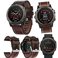 voordelige -smartwatch band voor fenix6x / 6x pro / 5x garmin high-end lederen lus lederen band polsband 26mm