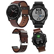 voordelige -Horlogeband voor Fenix 5 / Fenix6 / Fenix6 Pro Garmin Leren lus Echt leer Polsband