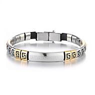 voordelige -Heren Vintage Armbanden Oorbellen / armband Retro Lucky Luxe Klassiek Vintage modieus Modieus Titanium Staal Armband sieraden Zilver Voor Dagelijks Straat Feestdagen Club Festival