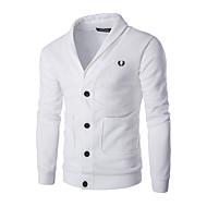 voordelige -Heren Kleurenblok Lange mouw Vest Trui Jumper Zwart / Wit US36 / UK36 / EU44 / US38 / UK38 / EU46 / US40 / UK40 / EU48