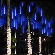 Недорогие -фары падающего дождя метеоритные дожди рождественские огни 30см 24 трубки 432 светодиодов фары падающие капли дождя сосулька гирлянды для рождественских елок хэллоуин украшения праздник свадьба