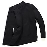 voordelige -Heren Kleurenblok Lange mouw Vest Trui Jumper Zwart / blauw / Rood US36 / UK36 / EU44 / US38 / UK38 / EU46 / US40 / UK40 / EU48