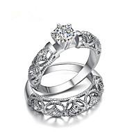 povoljno -Žene Prsten 1pc Srebro mesing Krug Stilski Vjenčanje Party Jewelry Cvijet Cool