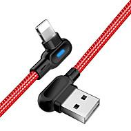 abordables -Eclairage Câble 1.0m (3ft) Tressé / Haut débit / Charge rapide Nylon / ABS + PC Adaptateur de câble USB Pour Macbook / iPad / iPhone