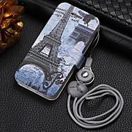 Недорогие -Кейс для Назначение Apple iPhone XR / iPhone X / iPhone 6 Plus Кошелек / Защита от удара Чехол Пейзаж / Мультипликация Кожа PU