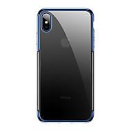 levne -Carcasă Pro Apple iPhone XS Max Ultra tenké / Průhledné Zadní kryt Průhledný / Jednobarevné TPU