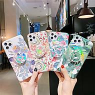 abordables -Coque Pour Apple iPhone 11 / iPhone 11 Pro / iPhone 11 Pro Max Avec Support / Plaqué / IMD Coque Arbre / Fleur TPU