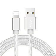 cheap -Lightning Cable 1.0m(3Ft) Braided / Quick Charge PVC(PolyVinyl Chloride) / Nylon USB Cable Adapter For iPhone