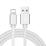 levne -Osvětlení Kabel 1,0 m (3 stopy) Pletený / Rychlé nabíjení PVC / Nylon Adaptér kabelu USB Pro iPhone