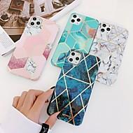abordables -Coque Pour Apple iPhone 11 / iPhone 11 Pro / iPhone 11 Pro Max Plaqué / IMD / Motif Coque Formes Géométriques / Marbre TPU