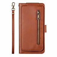 abordables -Coque Pour Apple iPhone 11 / iPhone 11 Pro / iPhone 11 Pro Max Porte Carte / Clapet Coque Intégrale Couleur Pleine faux cuir