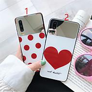voordelige -hoesje voor huawei scènekaart p30 p30 pro nova 3 nova 3e liefde puntpatroon gehard glas achterplaat platingproces tpu-frame 2-in-1 mobiele telefoonhoes ailaike