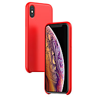 levne -Carcasă Pro Apple iPhone XS / iPhone XS Max Ultra tenké Zadní kryt Jednobarevné Silica gel