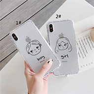 abordables -Coque Pour Apple iPhone 11 / iPhone 11 Pro / iPhone 11 Pro Max Antichoc / Transparente Coque Mot / Phrase / Bande dessinée TPU