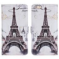 abordables -Coque Pour Apple iPhone 6s / iPhone 6 Porte Carte / Avec Support / Clapet Coque Intégrale Carreau vernisé / Paysage / Tour Eiffel faux cuir