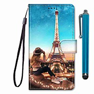 Case For Samsung Galaxy S10 / S10 Plus / S10 E Wallet / Card Holder / with Stand Girl Tower PU Leather / TPU for A10s / A20s / A50(2019) / A70(2019) / A90(2019) / Note 10 Plus / J6 Plus(2018)