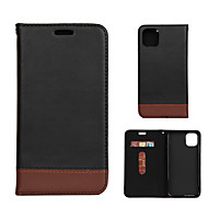abordables -Coque Pour Apple iPhone 11 / iPhone 11 Pro / iPhone 11 Pro Max Porte Carte Coque Intégrale Couleur Pleine faux cuir