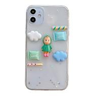 Недорогие -Кейс для Назначение Apple iPhone 11 / iPhone 11 Pro / iPhone 11 Pro Max Защита от удара Кейс на заднюю панель Прозрачный / Мультипликация ТПУ