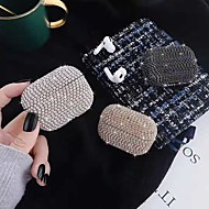 cheap -Case For AirPods Pro Shockproof / Rhinestone Headphone Case Soft