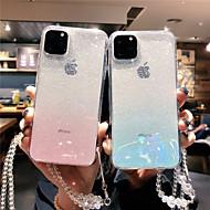 voordelige -hoesje Voor Apple iPhone 11 / iPhone 11 Pro / iPhone 11 Pro Max Transparant / Glitterglans Achterkant Kleurgradatie TPU