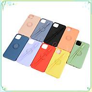 abordables -Coque Pour Apple iPhone 11 / iPhone 11 Pro / iPhone 11 Pro Max Anneau de Maintien / Dépoli Coque Couleur Pleine Le gel de silice