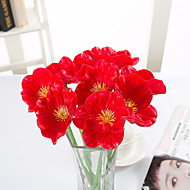 cheap -Artificial Flower Pu Mini Poppy Home Wedding Decoration 2 Sticks