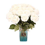 cheap -Simulation Roses Realistic Feel Moisturizing Roses Wedding Home Decoration Holding Flowers 2 Sticks