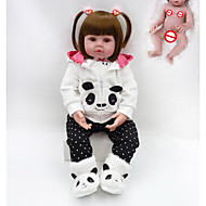 NPKCOLLECTION 20 inch Reborn Doll Baby Boy Baby Girl lifelike Gift Hand Made Full Body Silicone Silica Gel with Clothes and Accessories for Girls' Birthday and Festival Gifts