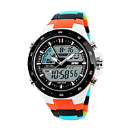 SKMEI Smartwatch Digital Modern Style Sporty Silicone 30 m Water Resistant / Waterproof Calendar / date / day Casual Watch Analog - Digital Casual Fashion - Black Orange Green