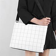 ieftine -Femei caiet ipad geanta plaid pu piele mesagerie geantă moda lattice umăr genti computer