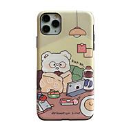 billige -mode ins stil telefon etui til apple iphone 11 ultra-tynd bagcover tegneserie beskyttende tpu passer til iphone 7 / iphone 8 sød vinter hvid bjørn telefon hud