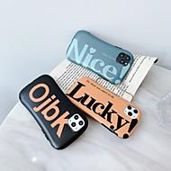 ieftine -Maska Pentru Apple iPhone 11 / iPhone 11 Pro / iPhone 11 Pro Max Anti Șoc / Mătuit Capac Spate Cuvânt / expresie TPU