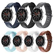 저렴한 -시계 밴드 용 Samsung Galaxy Watch 46 / 화웨이 시계 GT2 46mm Samsung Galaxy 비즈니스 밴드 천연 가죽 손목 스트랩