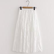 זול -אחיד - חצאיות נדנדה בגדי ריקוד נשים ורוד מסמיק לבן חום מידה אחת