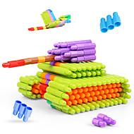 저렴한 -조립식 블럭 인터락킹 블럭 불릿 블록 단순한 핸드메이드 부모 - 자녀 상호 작용 가족 플라스틱 쉘 휴태용 보편적 100 pcs 아동용 남학생과 여학생 장난감 선물