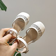 billige -Jente Komfort PVC Flate sko Toddler (9m-4ys) Rosa / Svart / Beige Vår / Sommer