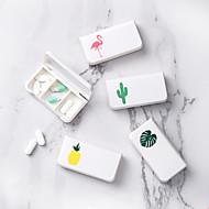 Χαμηλού Κόστους -2pcs Κουτί χάπι Πλαστική ύλη Φορητό Καθημερινά Καθημερινά Ρούχα