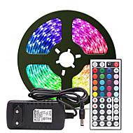 povoljno -5m Savitljive LED trake / Setovi svjetala / RGB svjetleće trake 300 LED diode SMD3528 8mm 1 24Ključuje daljinski upravljač / 1 x 2A mrežni adapter 1set Više boja Vodootporno / Cuttable / Party 12 V