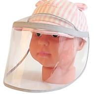 povoljno -Djeca Djevojčice Prugasti uzorak Kape i šeširi Blushing Pink / Sive boje S / M