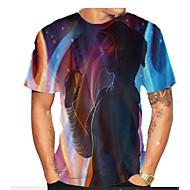 povoljno -Majica s rukavima Muškarci Dnevno Geometrijski oblici Crn