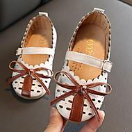 billige -Jente Komfort PU Flate sko Toddler (9m-4ys) Rosa / Svart / Beige Vår